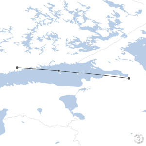 Map of flight plan from ULLI to EFHK