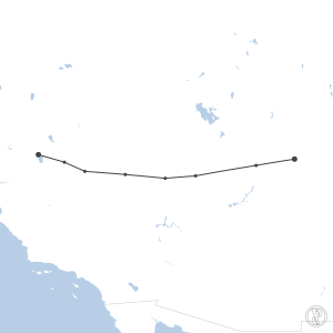 Map of flight plan from KTRK to KGJT