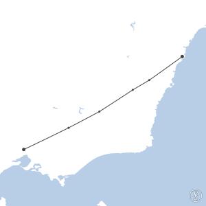 Map of flight plan from YSSY to YMML
