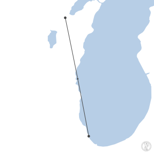 Map of flight plan from KCGX to KGRB