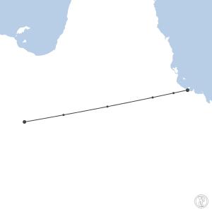 Map of flight plan from YBTL to YBMA