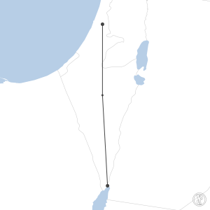 Map of flight plan from LLBG to LLET