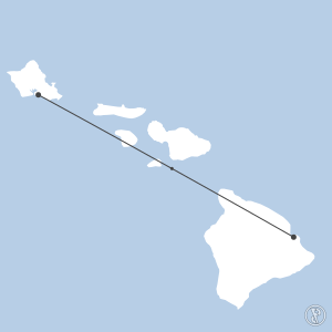Map of flight plan from PHNL to PHTO