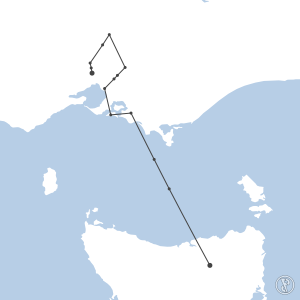 Map of flight plan from YMML to YMLT