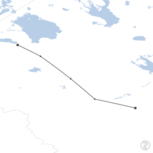 Map of flight plan from UUEE to ULLI