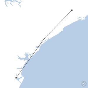 Map of flight plan from SBJV to SBSP