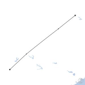 Map of flight plan from KROA to KATL