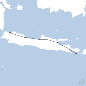 Map of flight plan from WIII to WADD