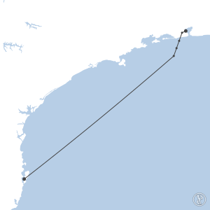 Map of flight plan from SBGL to SBFL