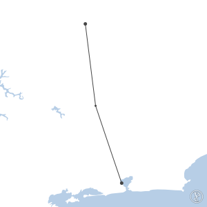 Map of flight plan from SBGL to SBCF
