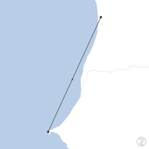 Map of flight plan from GOOY to GQNN
