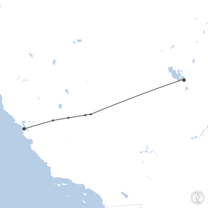 Map of flight plan from KSLC to KSFO