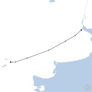 Map of flight plan from SADP to SAZN