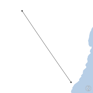 Map of flight plan from YTRE to YIVL